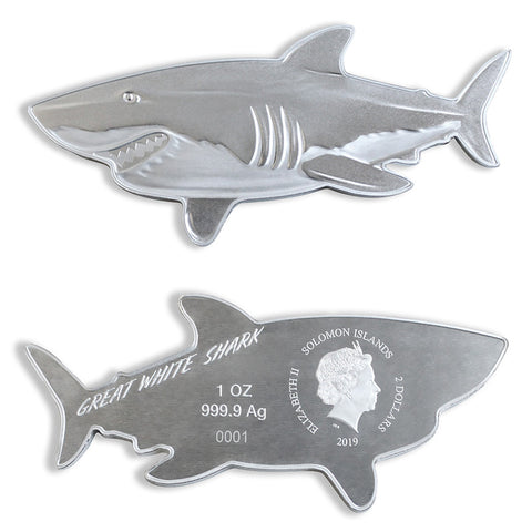 2019 Great White Shark Silver Coin