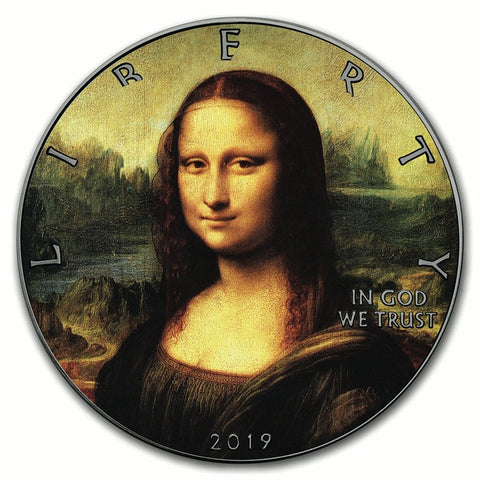 2019 Mona Lisa Silver Eagle Coin