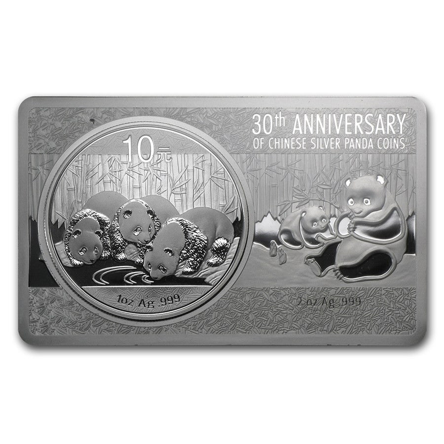 2013 3 Ounce 30th Anniversary Chinese Panda Silver Coin - Art in Coins
