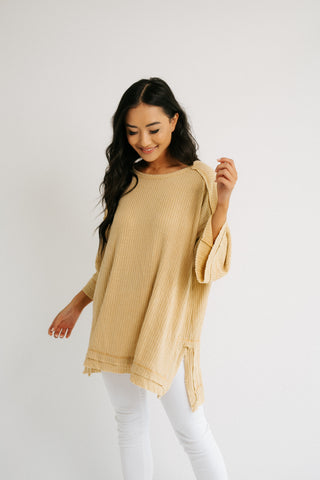 mary button top in oatmeal *restocked*