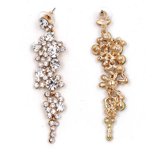 Falling Dream Rhinestone Chandelier Earrings - The Songbird Collection
