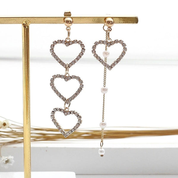Sweetheart Asymmetric Earrings - Clip-Ons Available NOW!
