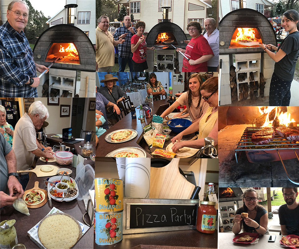Making memories with a pizza oven
