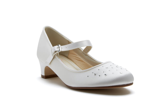 Subtle hint of sparkle, Verity from Rainbow Club is a cute and girly bridesmaid shoe.