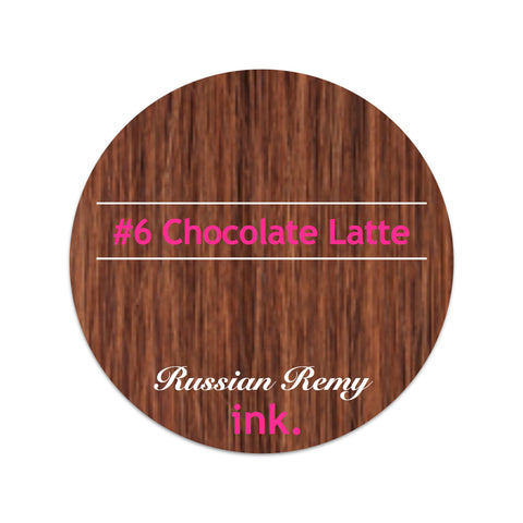 #6 Chocolate Latte Tape Hair Extensions 22-24""