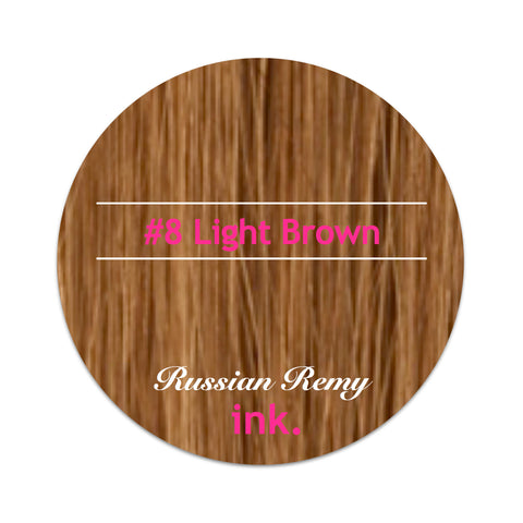 #8 Light Brown Tape Hair Extensions 22-24""