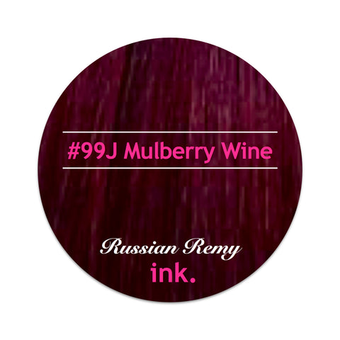 #99J Mulberry Wine Tape Hair Extensions 22-24""