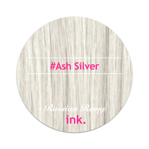 #Ash Silver Tape Hair Extensions 22-24""