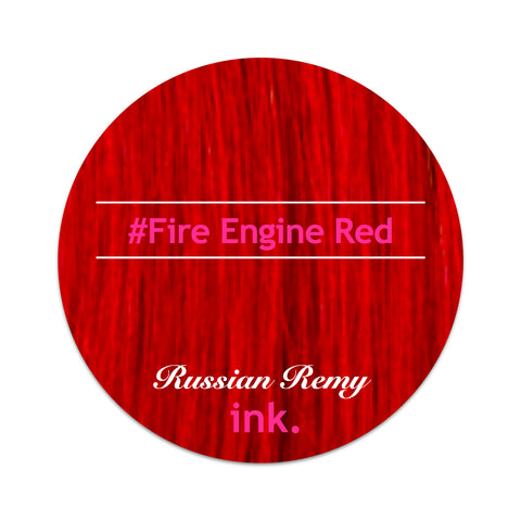 #Fire Engine Red Tape Hair Extensions 22-24""