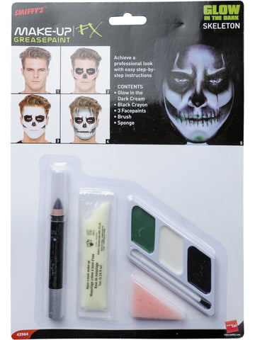 Glow in the Dark Skelett Makeup