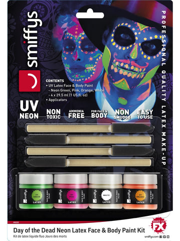 Neon Day of the Dead Flüssig Latex Kit