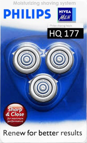 Philips hq177 Philishave/Norelco Coolskin Cool skin Triple pack shaver heads razor blades Cutters and Foils replacement Shaving head 3 pack for 7700 series