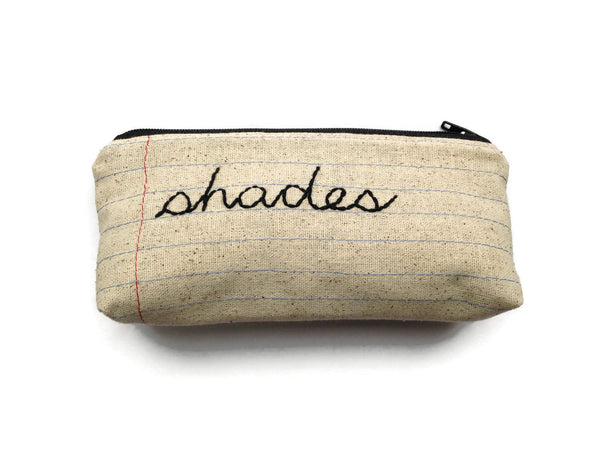 Eyeglass Case Zipper Pouch - Shades