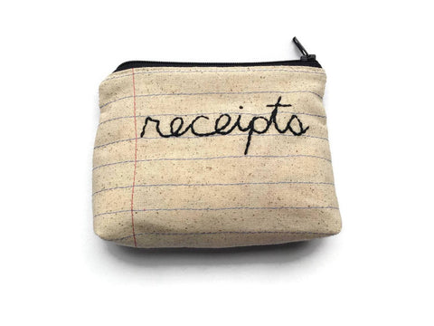Receipts Bag