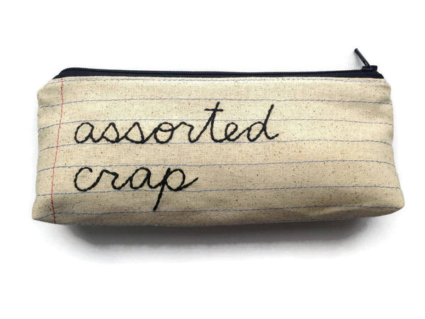 Assorted Crap Zipper Pouch - Case Pack of 10 - Wholesale
