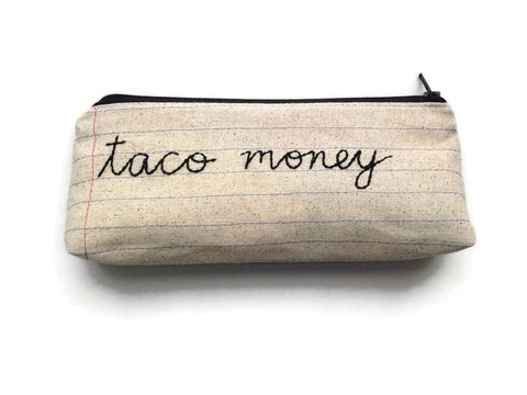 Taco Money Bag