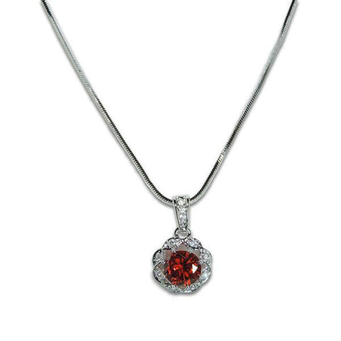 2ct Garnet Necklace