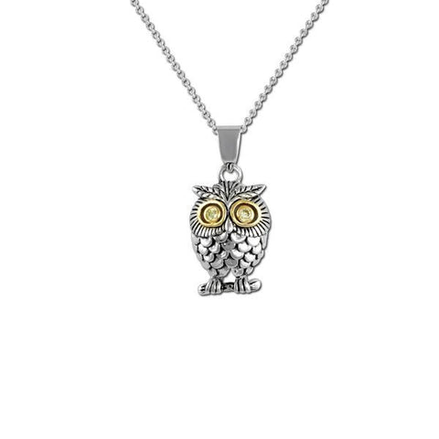 2-Tone Owl Necklace