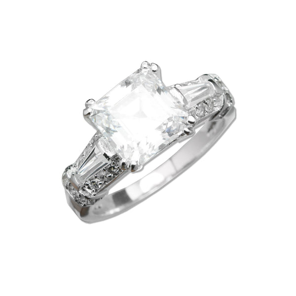 Step Cut Solitaire Ring