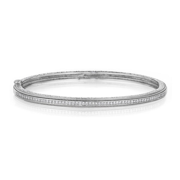 Thin Engraved Bangle