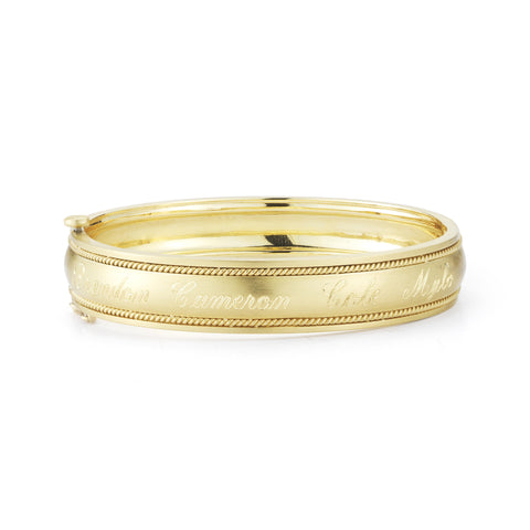 Wide Engravable Bangle