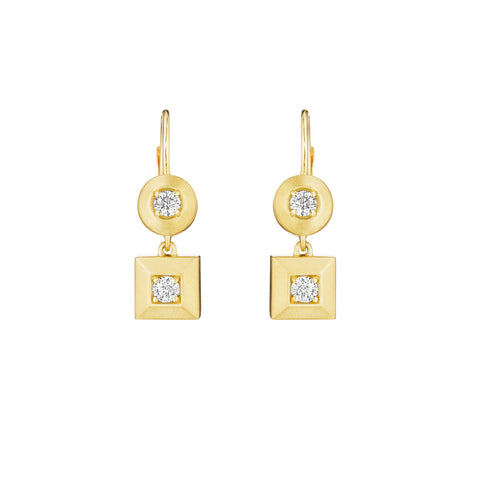 Round & Square Earrings