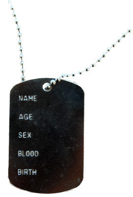 Dog Tag Single with Details
