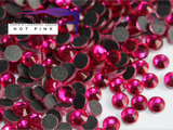 Hot Pink - Hotfix Diamante Crystal