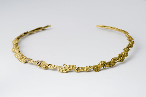 Delve Laurel Necklace Gold 1
