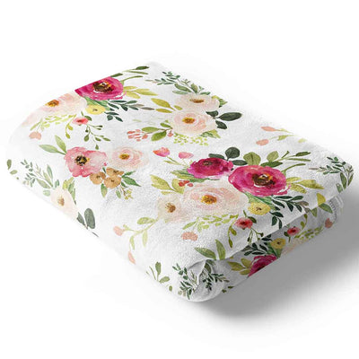 farmhouse floral baby and toddler blankets