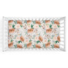 Posey's Earth Tone Floral Rust and Gold Crib Sheet