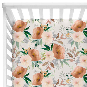 Posey's Earth Tone Floral Baby Bedding