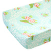 Vintage Songbird Mint, Green,-Pink Changing Pad Cover