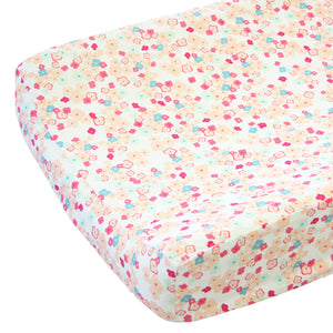 peach and mint changing pad cover