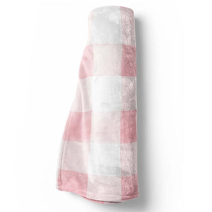 Presley's Pink Plaid Blanket Girl Farmhouse Nursery