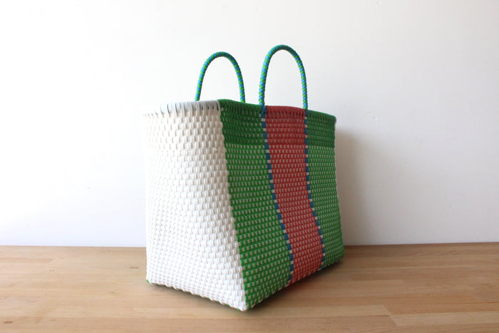 White, Green & Pink Mexican Tote Bag