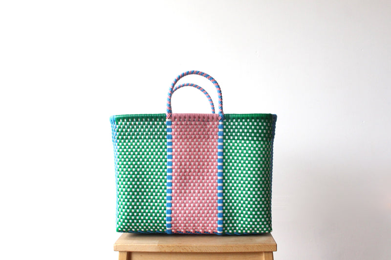 Green Blue & Pink MexiMexi Tote Bag