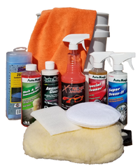 All In Detail Kit package including: Xtreme Shine, Wash n Wax, Special Cleaner, Awesome Gloss, Microfiber, etc.