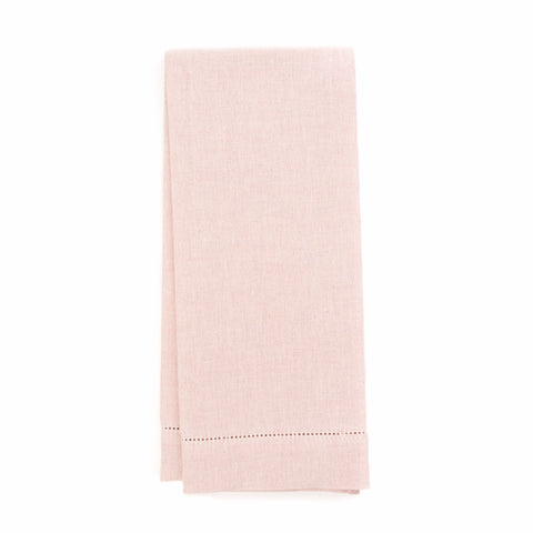 Zodiaco Hemstitch Guest Towel, Light Pink