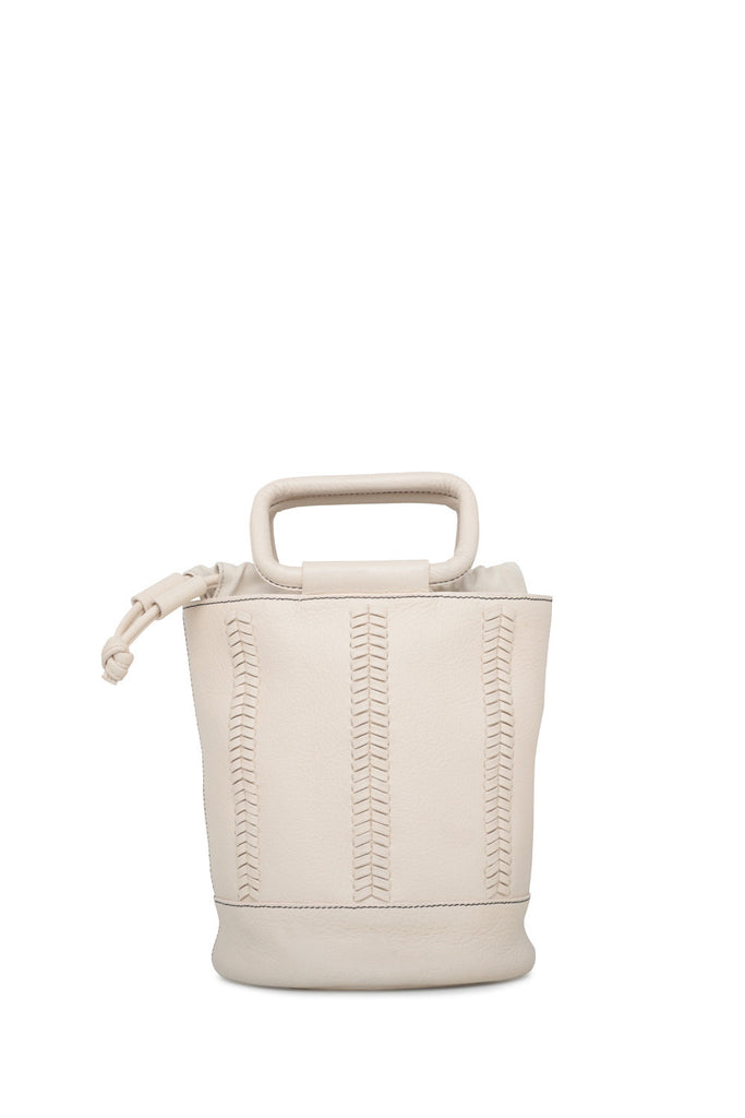 bucket bag - whipstitch