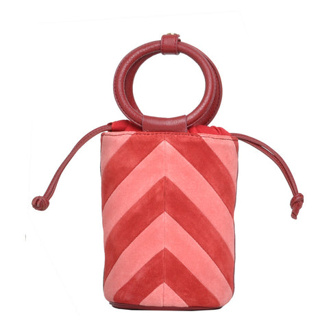 Mini Bucket Bag - red/pink/burgundy