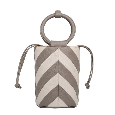 Mini Bucket Bag - cream/taupe