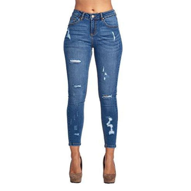 Blue Age Womens Butt-Lifting Skinny Jeans Jp1060_Medium Wash / 1 Jeans