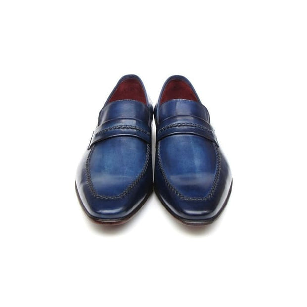 Paul Parkman Mens Loafer Shoes Navy (Id#068-Blu) Men - Shoes - Loafers & Drivers