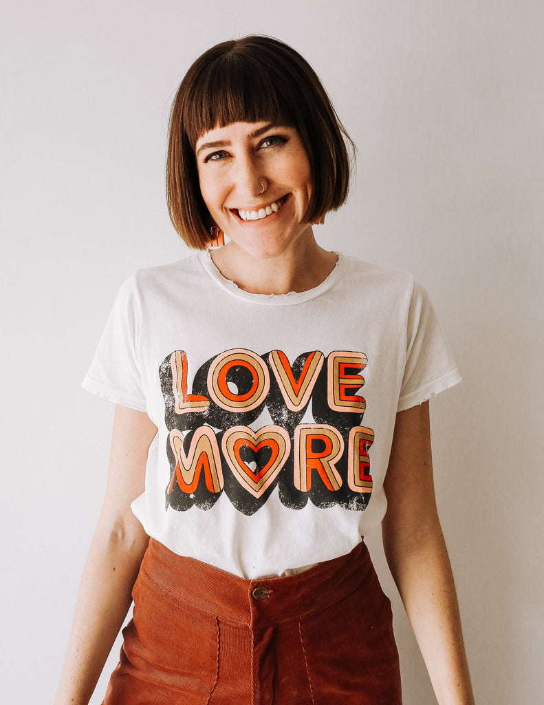 Love More Tee - White
