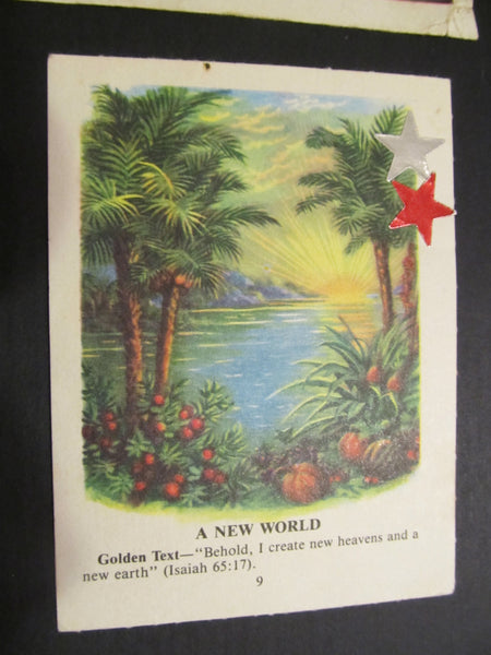 Bible Picture Cards, vintage, FREE SHIPPING