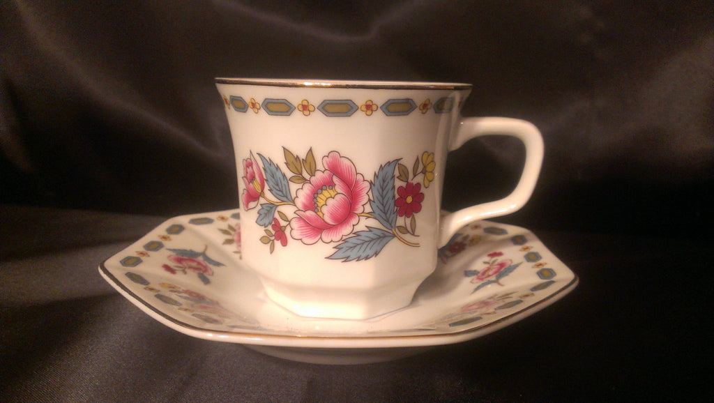 Porcelain Tea Cup with Saucer Plate Vintage