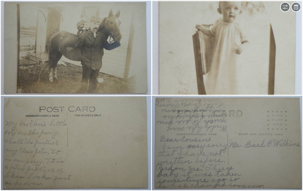 2 RPPC, Photograph Postcard, FREE SHIPPING