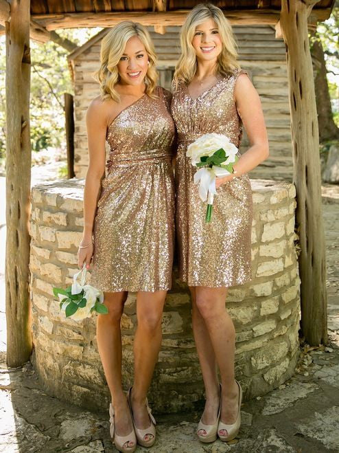 sequin bridesmaid dress,short bridesmaid dress,sparkle bridesmaid dress,cheap bridesmaid dresses,BD3470 - dream dress