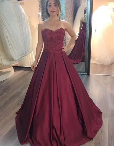 2018 cheap lace long prom gown, long evening dress,PD2059